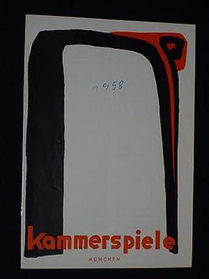 Programmheft 3 Münchner Kammerspiele 1957/58. NATHAN DER: Münchner Kammerspiele, Intendant: