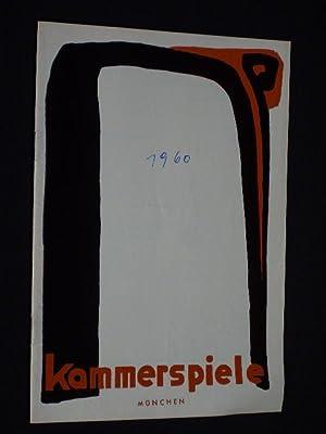 Programmheft 3 Münchner Kammerspiele 1960/61. 1913 von: Münchner Kammerspiele, Intendant: