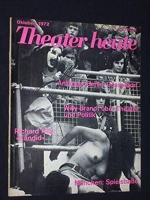 Theater heute. Die deutsche Theaterzeitschrift. Heft 10,: Herausgegeben von Erhard