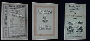 Programmzettel Deutsches Schauspielhaus Hamburg 10. November 1909. Festvorstellung für den &...
