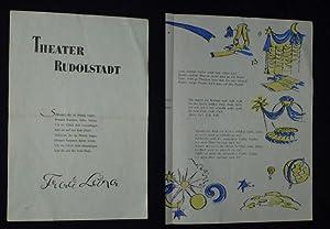 Programmzettel Theater Rudolstadt 1955/56. FRAU LUNA von: Herausgeber u. verantwortl.