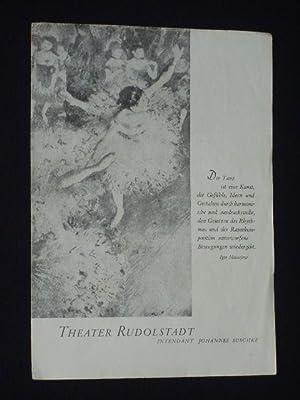 Programmzettel Theater Rudolstadt 1955/56. BALLETT-ABEND. Choreographie: Hildegard: Herausgeber u. verantwortl.