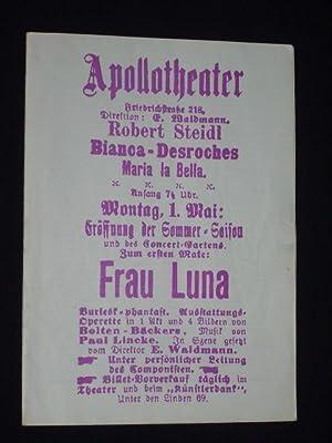 Programmheft Theater Rudolstadt 1970/71. FRAU LUNA von: Herausgegeben von der