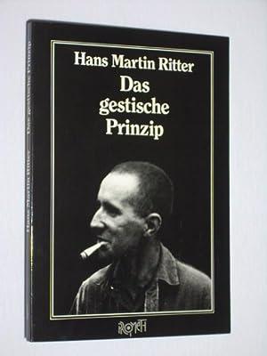 Das gestische Prinzip bei Bertolt Brecht [signiert]: Hans Martin Ritter