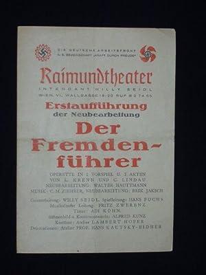 Programmzettel Raimundtheater Wien um 1942. Erstaufführung d.: Raimundtheater Wien (Hg.),