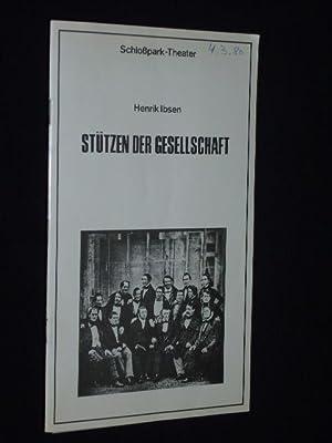 Programmheft 119 Schloßpark-Theater Berlin 1979. STÜTZEN DER: Staatliche Schauspielbühnen Berlin