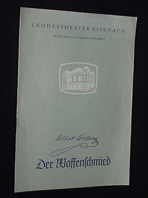 Programmheft 1 Landestheater Eisenach 1961. DER WAFFENSCHMIED: Herausgeber: Landestheater Eisenach,