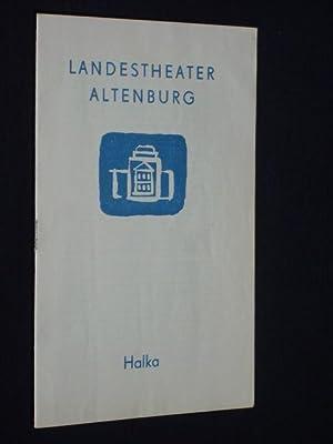 Programmheft 2 Landestheater Altenburg 1962. HALKA von: Landestheater Altenburg, Intendant:
