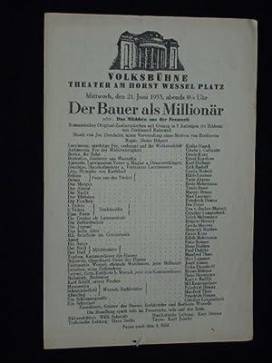 Volksbühne - Theater am Horst Wessel Platz: Volksbühne Berlin (Hg.);