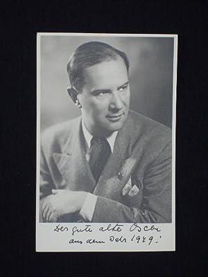Künstler-Postkarte Oscar Karlweis, 1949, signiert.: Oscar Karlweis
