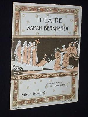 Programme Theatre Sarah Bernhardt 1906. Uraufführung LA VIERGE D'AVILA de M. Catulle ...