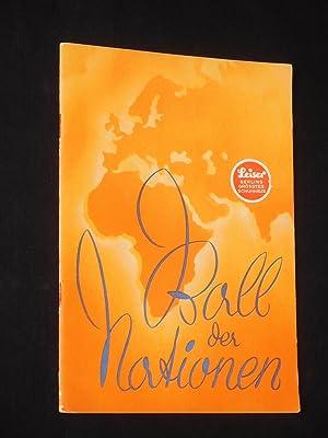 Programmheft Metropol-Theater Berlin 1935. Uraufführung BALL DER NATIONEN von Paul Beyer und ...