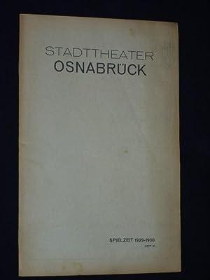 Zum Spiel. Heft 10, Spielzeit 1929/30. Programmheft: Herausgegeben von der