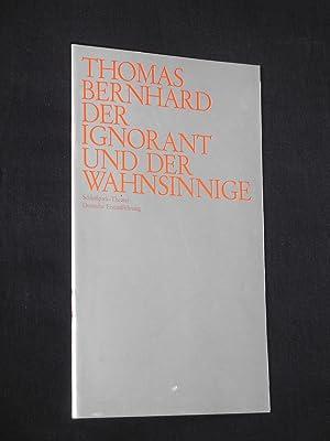 Programmheft 2 Schloßpark-Theater 1972/73. DER IGNORANT UND: Staatliche Schauspielbühnen Berlin,