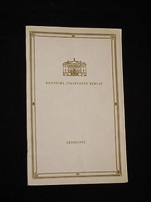 Programmheft Deutsche Staatsoper Berlin 1959. ARIODANTE von: Herausgeber: Deutsche Staatsoper