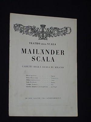 Programmheft Gastspiel Teatro alla Scala/ Mailänder Scala: Deutsche Konzert- und