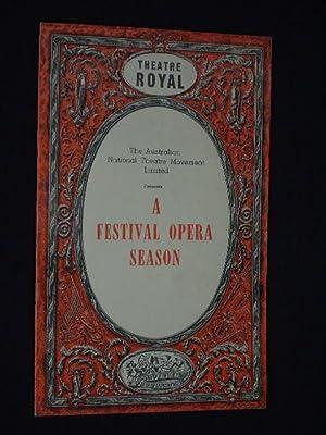 Programmheft Theatre Royal Sydney 1953. THE CONSUL: Theatre Royal Sydney,