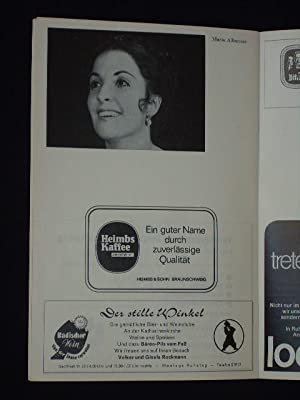 Programmheft Staatstheater Braunschweig 1971/72. DON PASQUALE nach: Herausgeber: Generalintendant Hans