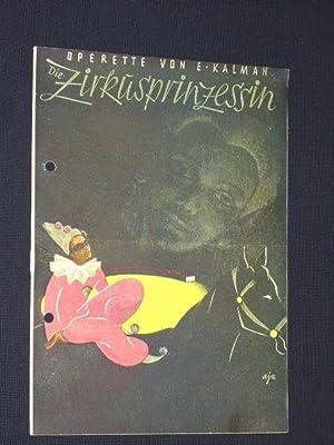 Programmheft Metropol-Theater Berlin 1946. DIE ZIRKUSPRINZESSIN von: Metropol-Theater, Julius Brammer,