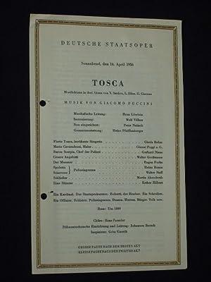 Programmzettel Deutsche Staatsoper Berlin 1956. TOSCA von: Deutsche Staatsoper Berlin,