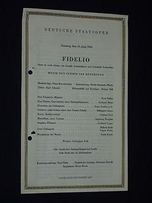 Programmzettel Deutsche Staatsoper Berlin 1956. FIDELIO von: Deutsche Staatsoper Berlin,