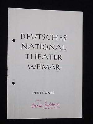 Programmheft 12 Deutsches Nationaltheater Weimar 1958/59. DER: Generalintendanz des Deutschen