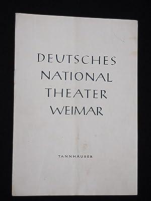 Programmheft 2 Deutsches Nationaltheater Weimar 1953/54. TANNHÄUSER: Herausgegeben vom Deutschen