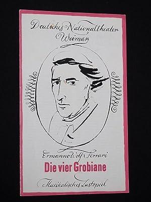 Programmheft 5 Deutsches Nationaltheater Weimar 1966/67. DIE: Herausgegeben von der