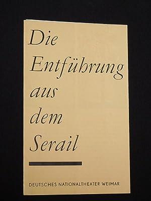 Programmheft 2 Deutsches Nationaltheater Weimar 1967/68. DIE: Herausgegeben von der