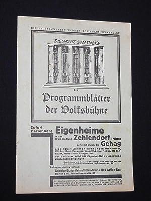 Programmblätter der Volksbühne, 2. Jgg., Heft 4,: Herausgeber: Die Volksbühne