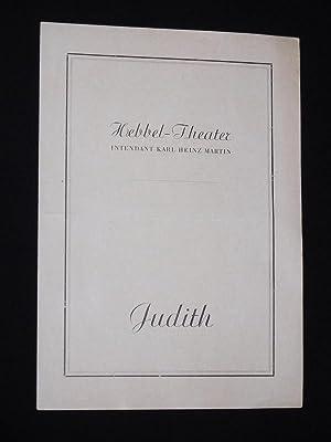 Programmzettel Hebbel-Theater Berlin 1947. JUDITH von Hebbel.: Hebbel-Theater Berlin, Intendant: