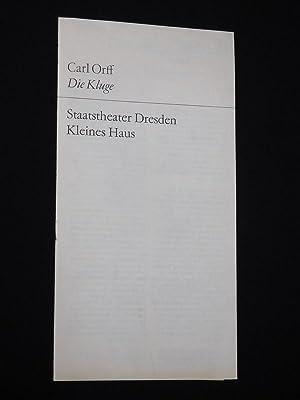 Programmheft 14 Staatstheater Dresden, Kleines Haus 1972/73.: Staatstheater Dresden, Generalintendant:
