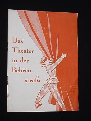 Programmheft Theater in der Behrenstrasse 1935. EHE: Theater in der