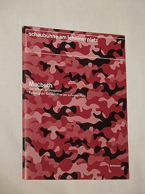 Programmheft Schaubühne Berlin 2001/ 02. MACBETH von: Red.: Schaubühne am