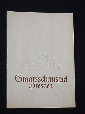 Blätter des Staatsschauspiels Dresden, Nr. 3, 1958/59.: Staatstheater Dresden, Generalintendant: