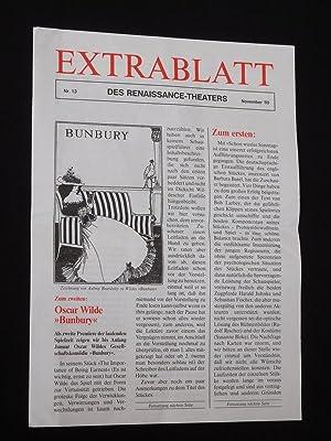 Extrablatt des Renaissance-Theaters, Nr. 13, November 1989: Herausgeber: Renaissance-Theater, Intendant: