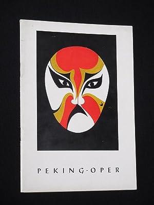 Programmheft Gastspiel Peking-Oper in der Komischen Oper: Gesellschaft für kulturelle