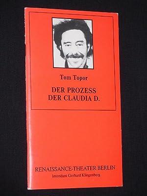 Programmheft 4 Renaissance-Theater Berlin 1993/ 94. DER: Herausgeber: Neue Theater-Betriebs