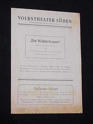 Programmzettel Volkstheater Süden 1947. EIN WALZERTRAUM von: Volkstheater Süden, künstler.