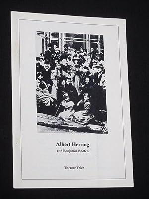 Programmheft 14 Theater der Stadt Trier 1985/86.: Herausgeber: Intendant Rudolf