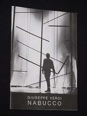 Programmheft 2 Theater Trier 1990/91. NABUCCO von: Herausgeber: Intendant Rudolf