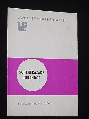 Programmheft 6 Landestheater Halle (Saale) 1963/64. Zweiteiliger: Herausgegeben vom Landestheater