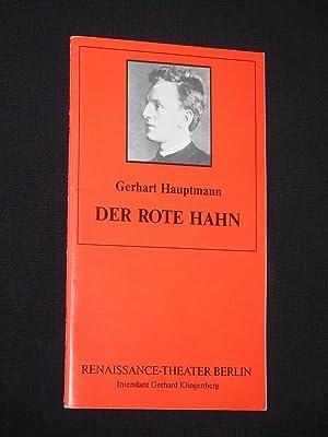 Programmheft 3 Renaissance-Theater 1992/93. DER ROTE HAHN: Herausgeber: Neue Theater-Betriebs