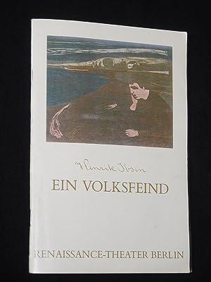 Programmheft 4 Renaissance-Theater 1984/85. EIN VOLKSFEIND von: Renaissance-Theater Berlin, Intendant: