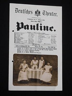 Programm Deutsches Theater Berlin 1976. PAULINE BERLINER: Deutsches Theater und