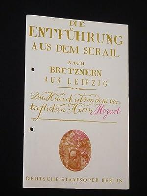 Programmheft Deutsche Staatsoper Berlin 1978/79. DIE ENTFÜHRUNG: Deutsche Staatsoper Berlin,
