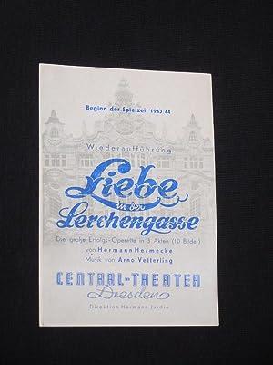 Programmzettel Central-Theater Dresden um 1943/44. LIEBE IN: Central-Theater Dresden, Direktion:
