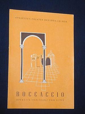 Programmheft Operetten-Theater Dresden-Leuben 1950/51. BOCCACCIO von Suppe: Operetten-Theater Dresden-Leuben; Franz