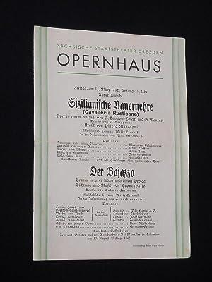 Programmzettel Sächsische Staatstheater Dresden, Opernhaus 13. März: Sächsische Staatstheater Dresden,