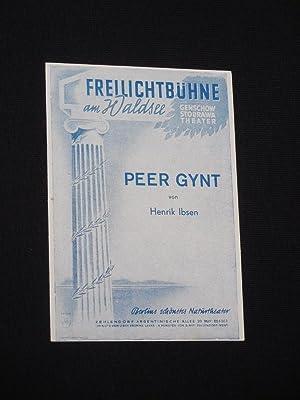 Programmzettel Genschow-Stobrawa-Theater/ Freilichtbühne am Waldsee um 1950.: Genschow-Stobrawa-Theater, Henrik Ibsen,